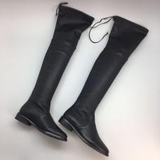Ботфорты Stuart Weitzman Black Leather