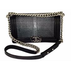 Женская сумка Chanel Black/White (СКАТ)