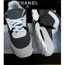 Женские брендовые кроссовки Chanel EX Sport Grey