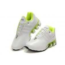 Мужские белые кожаные кроссовки Adidas Porsche Design Run Bounce SL P5000 (white/green)
