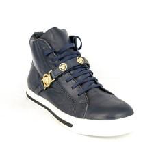 Зимние ботинки Versace Blue с МЕХОМ