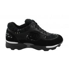 Женские брендовые кроссовки Chanel EX Sport Black/Black