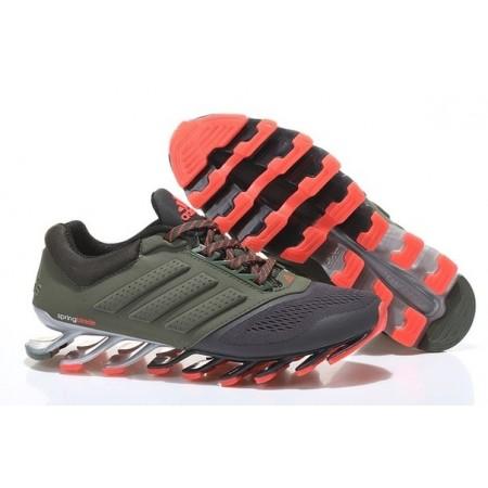 Эксклюзивная брендовая модель Кроссовки беговые Adidas SpringBlade Green/Red/Grey
