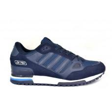 Мужские кожаные кроссовки ADIDAS ZX750 Dark Blue/White/Sky