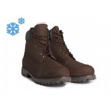 Зимние ботинки Timberland Classic Dark Brown Winter с мехом