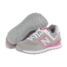 Женские летние кроссовки New Balance 574 Grey/Pink II