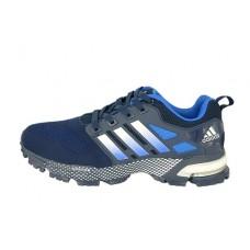Мужские беговые кроссовки Adidas Marathon Flyknit темно-синие