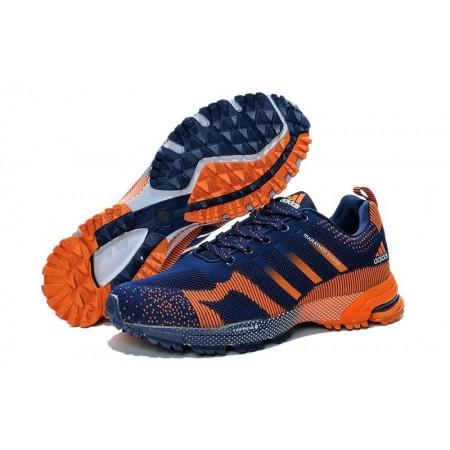 Эксклюзивная брендовая модель Adidas Marathon Flyknit Blue/Orange