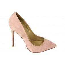 Женские замшевые розовые туфли Christian Louboutin Pigalle