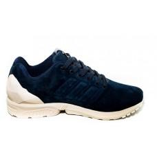 Замшевые кроссовки Adidas ZX Flux Blue V
